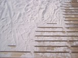 sand prints on steps
