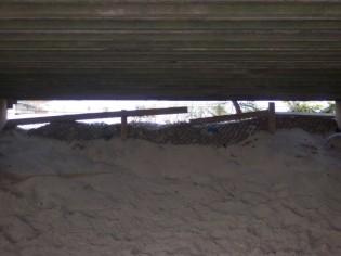 under boardwalk