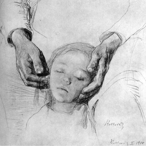 mother and child by Kathe Kollwitz